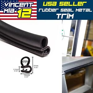 18ft Weatherstrip Auto Rv Door Lock Engine Trunk Guard Pvc Seal Strip Trim New
