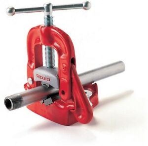 Ridgid 1 8 In To 4 In Model 25a Bench Yoke Vise Heavy Duty Iron Construction