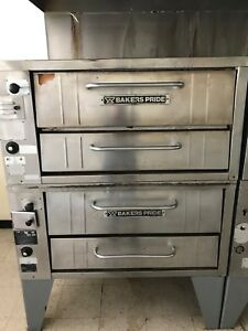 Bakers Pride 252 Nat Gas Pizza Deck Oven Double Deck