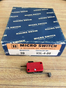 New V3l 4 d8 Micro Switches Box Of 20