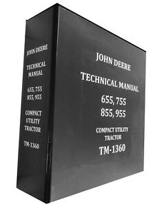 955 John Deere Technical Service Shop Repair Manual Book