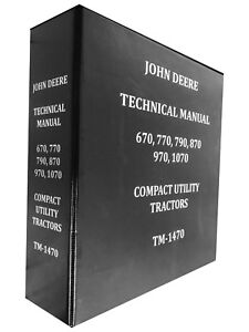 770 John Deere Technical Service Shop Repair Manual Huge Book