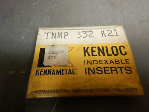 New Kennametal Tnmp 332 K21 Inserts For Metal Lathe