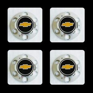 4pc Chevrolet Chevy Gmc Truck Caps Of 6 Lug 15 15x8 Rally Wheel Center Hub Cap
