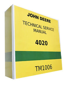 4020 John Deere Technical Service Shop Repair Manual Tractor Book