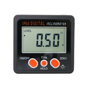 Toolots Magnetic Digital Protractor Angle Gauge 4x90 Aluminum Frame 2 1 4 In
