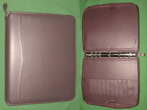 Monarch 1 25 Brown Faux Leather Franklin Covey Planner Binder 8 5x11 6070