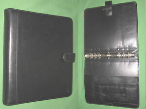Monarch 1 25 Black Leather Franklin Covey Planner 8 5x11 Binder Open 6022
