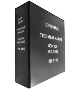 850 John Deere Technical Service Shop Repair Manual Huge Book