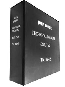 750 John Deere Technical Service Shop Repair Manual Huge Book 800 Pages