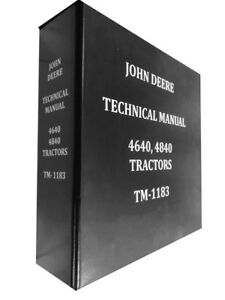 4840 John Deere Technical Service Shop Repair Manual Huge Book