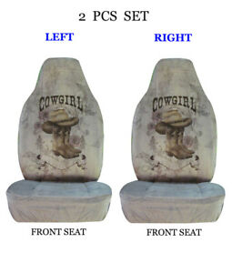 Car Truck 2 Piece Set Sublimation Design High Back Front Seat Covers 1295 Gray