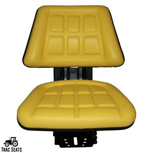 Yellow John Deere 2350 2355 2440 Trac Universal Triback Tractor Suspension Seat