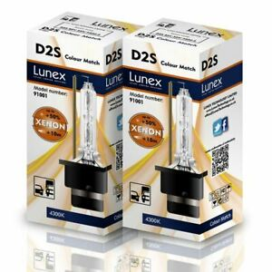 Lunex D2s Genuine Xenon Lamps Replacement For Philips Ge Or Osram 4300k Twin