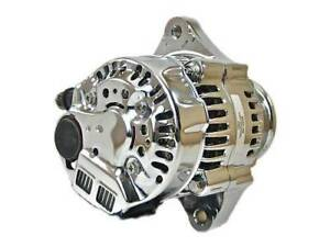 Mini Chrome Chevy Alternator Fits 60a Street Rod Race 1 wire Self Energizing