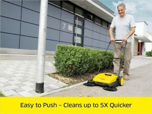 Industrial Floor Sweeper Push Broom Cleaner Driveway Dust Sweepers Patio Home