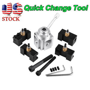 Mini Quick Change Tool Post Holder For 7 x10 12 14 Aluminium Material