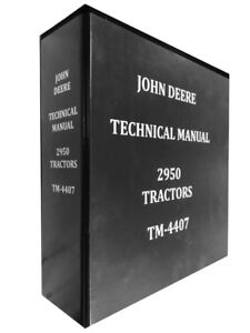 2950 John Deere Technical Service Shop Repair Manual Huge Book