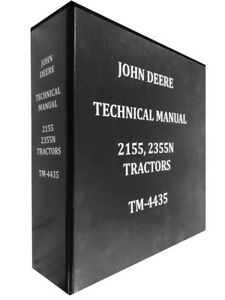 2155 John Deere Technical Service Shop Repair Manual Huge Book
