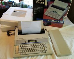 Smith Corona Wordsmith 250 Typewriter With Box Tested