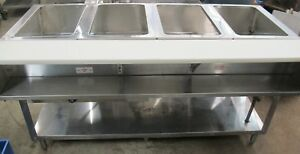Supreme Metal Wb 4g nat Wet Bath 4 Well Steam Table