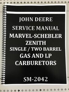 John Deere Carburetor Dealer Service Manual Repair Adjust Tuning Huge Book