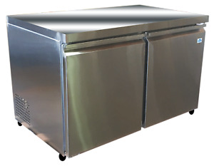 Alamo Xauc12f e 2 Door Under Counter Stainless Steel Freezer Free Shipping