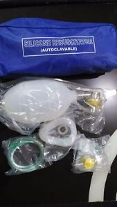 Manual Resuscitator 1500ml Adult Size Ambu Bag Oxygen Tube Cpr First Aid Kit