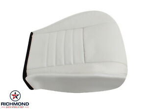 2003 Ford Mustang Gt V8 Driver Side Bottom Replacement Leather Seat Cover White