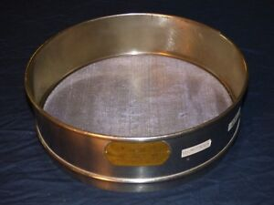 Us Standard Sieve Series 30 Newark Wire Cloth Co 12 In