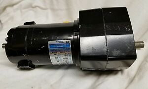 Leeson Gearhead 180v 1 20 Hp Dc Motor 985 670 Amp 31 10 Rpm 1 2 Shaft New