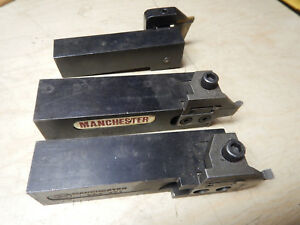 3 Valenite And Manchester Cnc Metal Lathe Groove Cutter Tool Holders