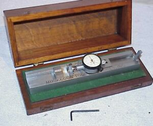 Starrett 145 Dial Indicator With Muskegon Tool Micro flote Case Adjust o matic