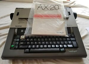 Brother Ax 20 Electronic Typewriter With Manual Tested
