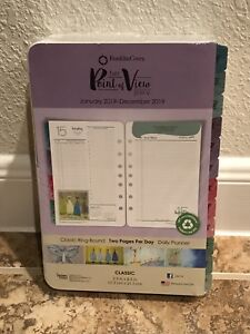 Her Point Of View 2019 Planner Refill 2 Pages Per Day Franklin Covey Daily Pink