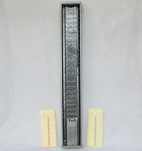 Vintage Time Card Rack Holder 25 Pocket Metal Time Clock Card Rack 34 5
