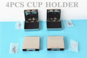 4x Stainless Steel Car Drink Cup Holder Folding Marine Yacht truck Rv camper