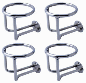 4x Marine Stainless Steel Ring Car Cup Drink Holder Polished Boat Accessories