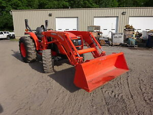 Kubota Mx4800 Utility Tractor 5 8 Hours Loader Mfwd 4wd P s 3 Pt Q a Pto