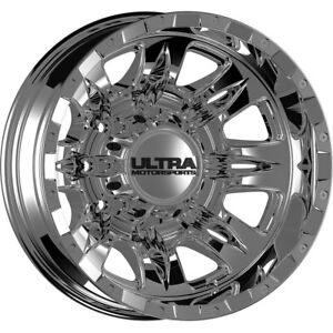 17x6 5 Ultra 049c Predator Dually Chrome Wheels Rims 140 8x6 50 Qty 2