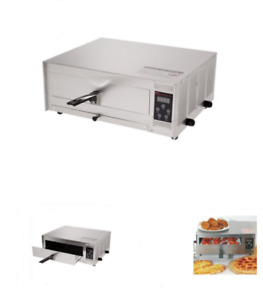 Electric Commercial Pizza Oven Cooker Digital 12 Counter Top Snack Bakers Steel