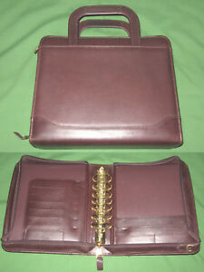 Classic 2 0 Brown Full Grain Leather Franklin Quest Covey Planner Binder 4318