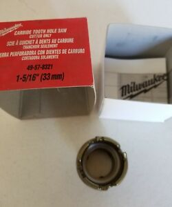 Milwaukee 49 57 8321 Sheet Metal Hole Saw Cutter 1 5 16 In Nib