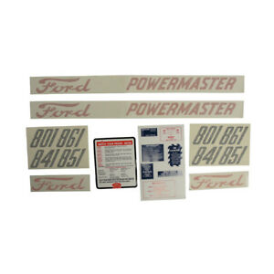 Ford Tractor Decals 801 841 851 861 Series Decal Kit D 8015862