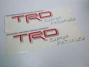 Toyota Racing Development Tacoma Tundra Trd Off Road Decal Sticker Set 2004 2015