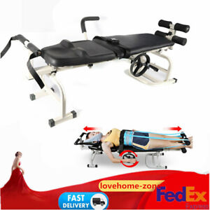 Lumbar Stretch Device Traction Bed Therapy Massage Table For Cervical Spine Usa