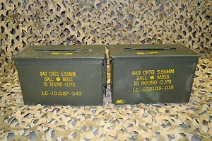 2 PACK 50 Cal M2A1 AMMO CAN COMPLETELY REFURBISHED GREAT CONDITION FREE SHIPPING $34.95