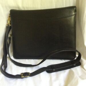 Franklin Quest Covey Zip around Classic Black Leather Planner Binder Usa Straps