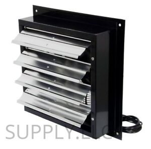 Exhaust Fan Commercial Duty 12 Wall Mount Aluminum Shutters Plug in 3 speed New
