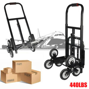 Portable Cart Folding Dolly Push Truck Hand Collapsible Luggage Trolley 440lbs